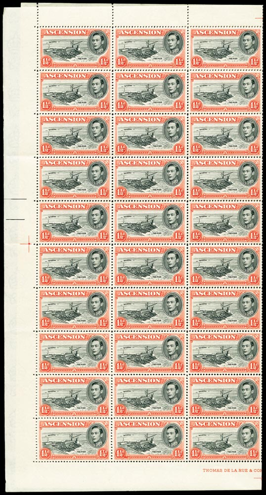 ASCENSION 1938  SG40b/ba Mint