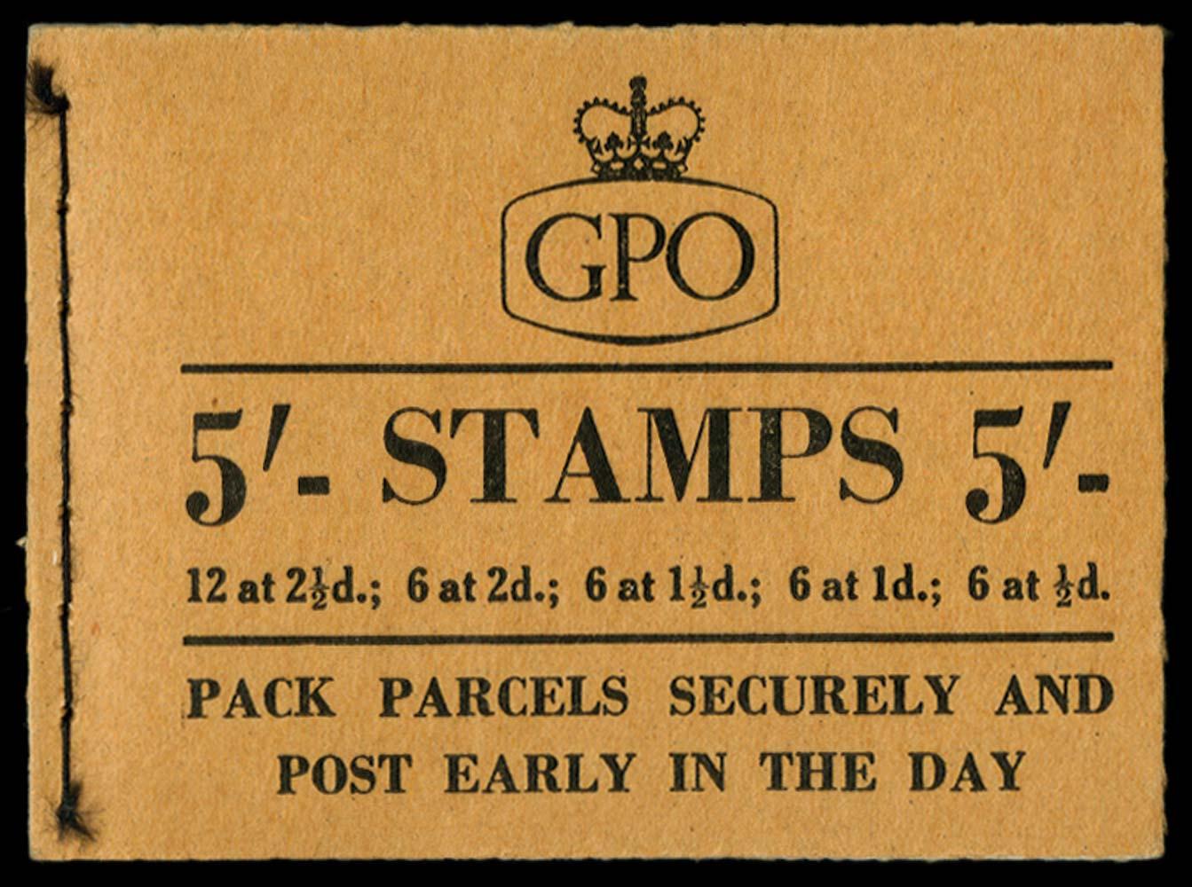 GB 1955  SGH18 Booklet