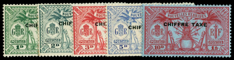 NEW HEBRIDES 1925  SGFD53/7 Postage Due