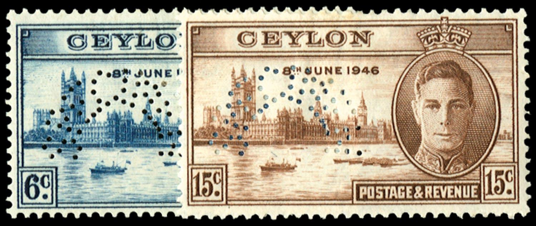 CEYLON 1946  SG400s/401s Specimen