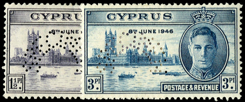 CYPRUS 1946  SG164s/5s Specimen