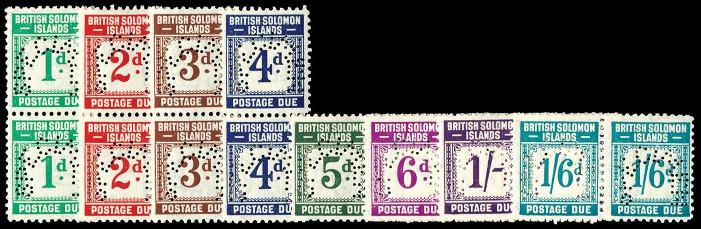 SOLOMON ISLANDS 1940  SGD1s/8s Specimen