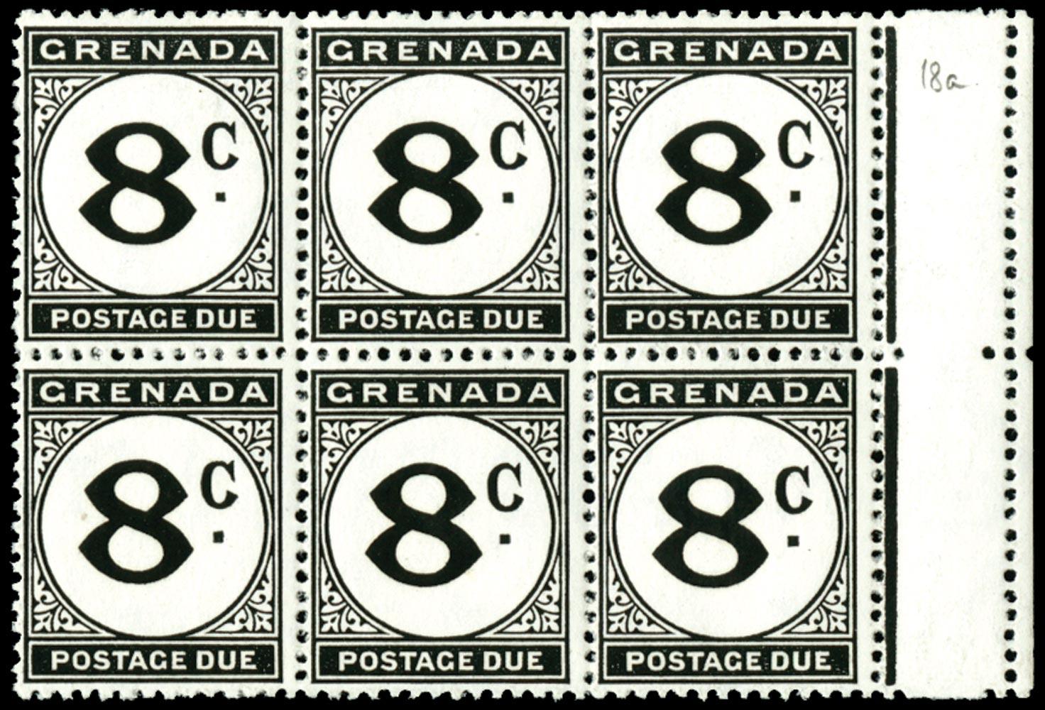 GRENADA 1952  SGD18/a Postage Due