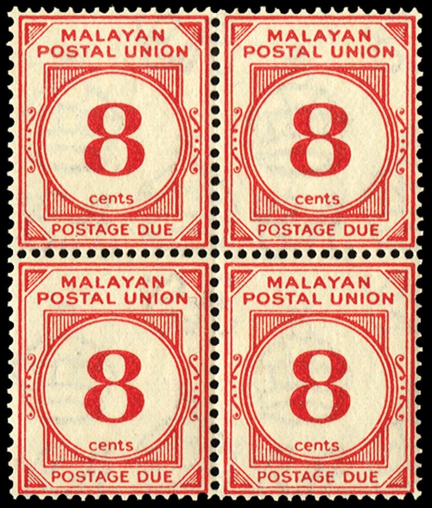 MALAYA - M.P.U. 1936  SGD3 Postage Due