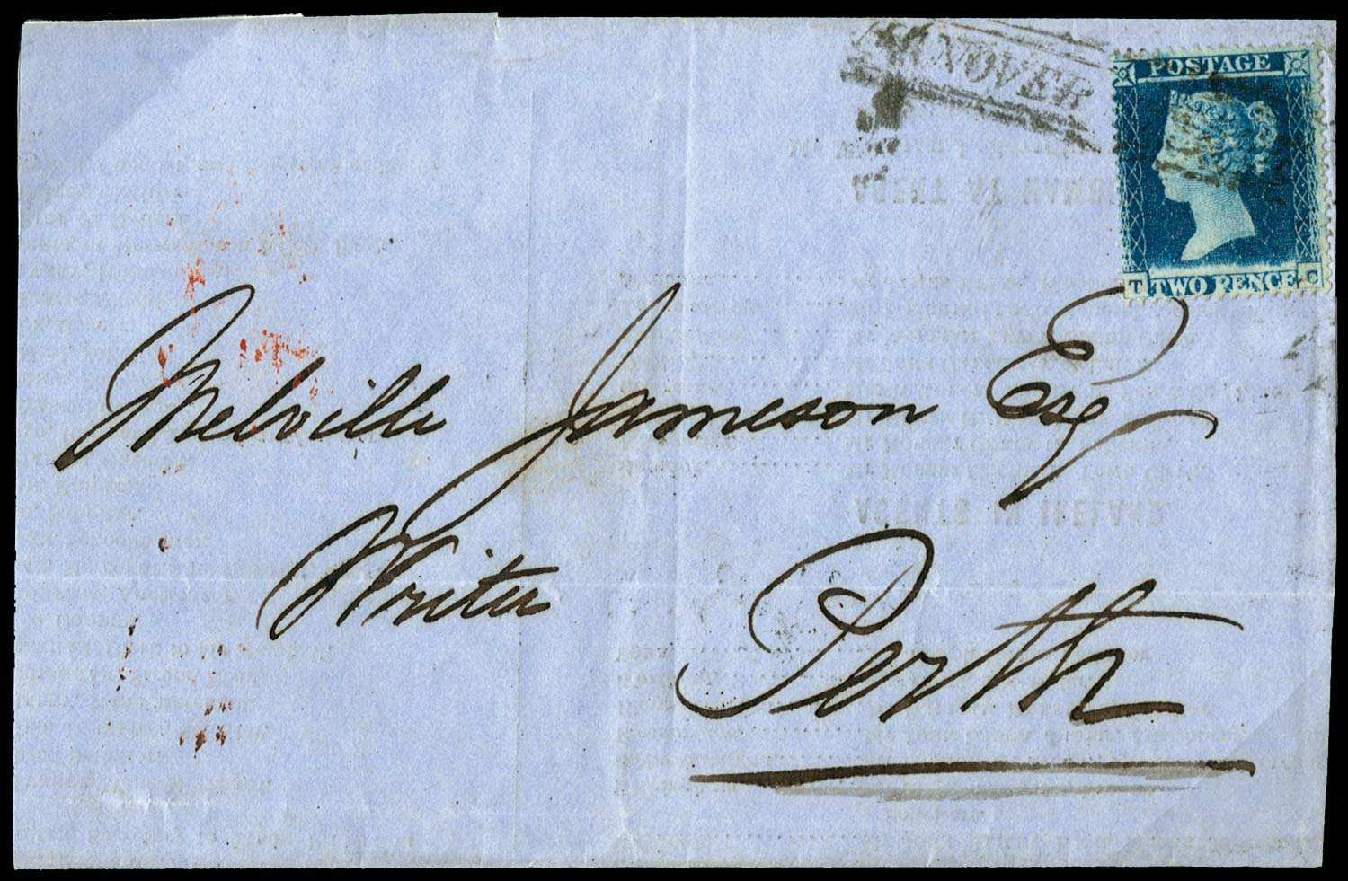 GB 1856  SG19var Pl.4 Cover