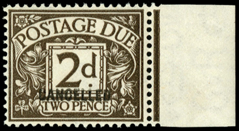GB 1924  SGD13var Postage Due