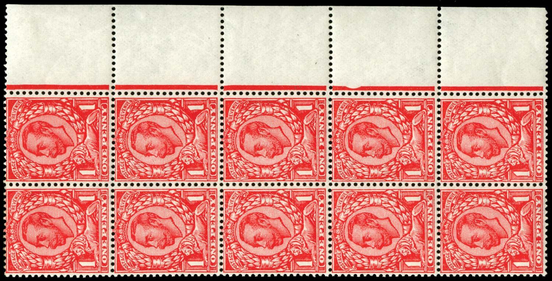 GB 1912  SG345var Mint