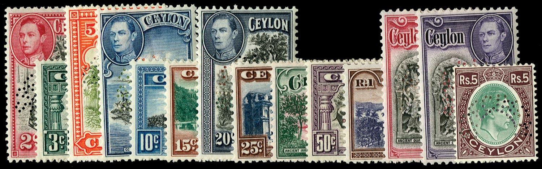 CEYLON 1938  SG386s/97s Specimen