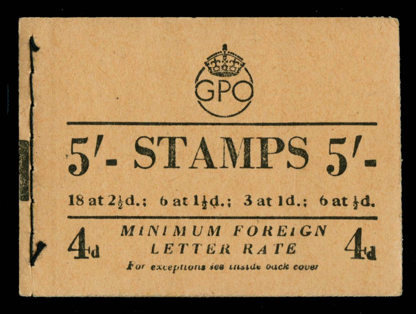 GB 1952  SGBD31 Booklet (Nov)
