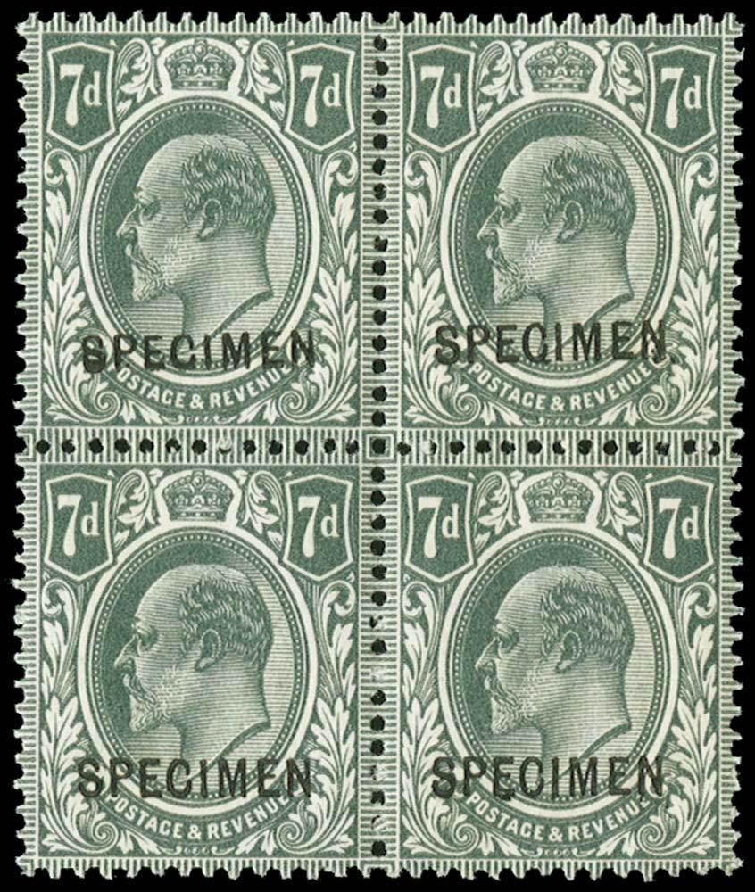 GB 1912  SG305s Specimen
