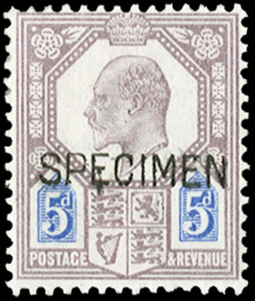 GB 1902  SG242aas Specimen