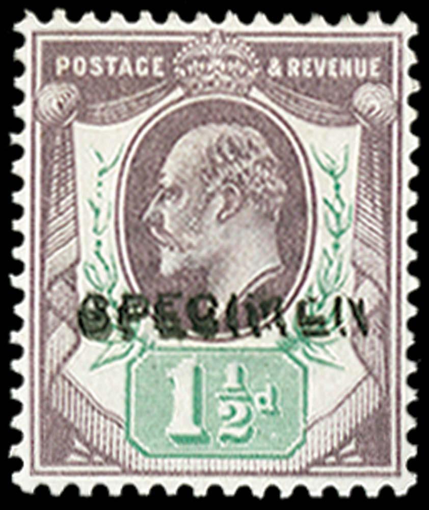 GB 1902  SG222s Specimen