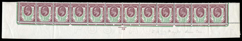GB 1911  SG287var Mint