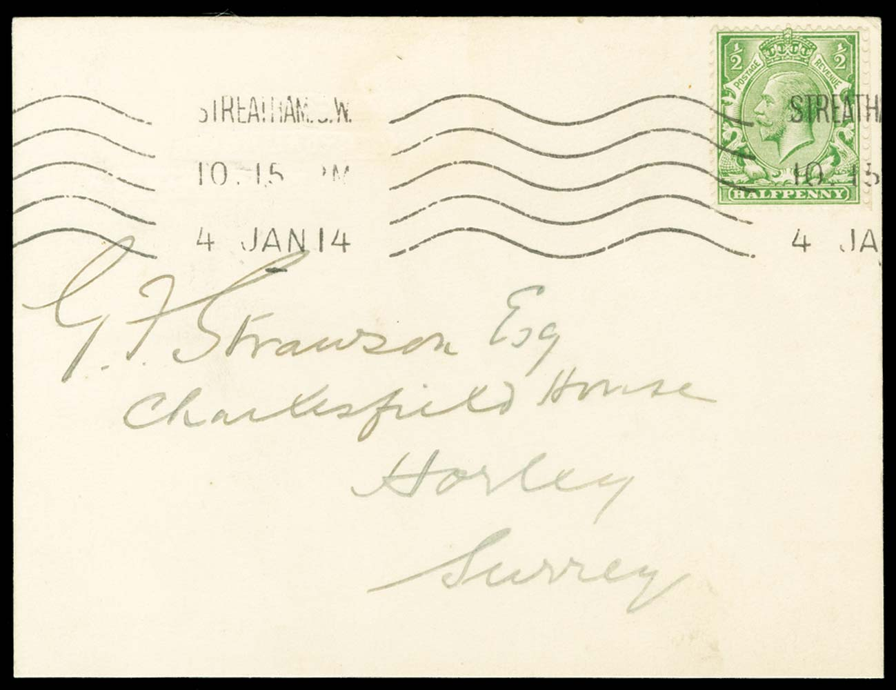 GB 1913  SG351var Cover