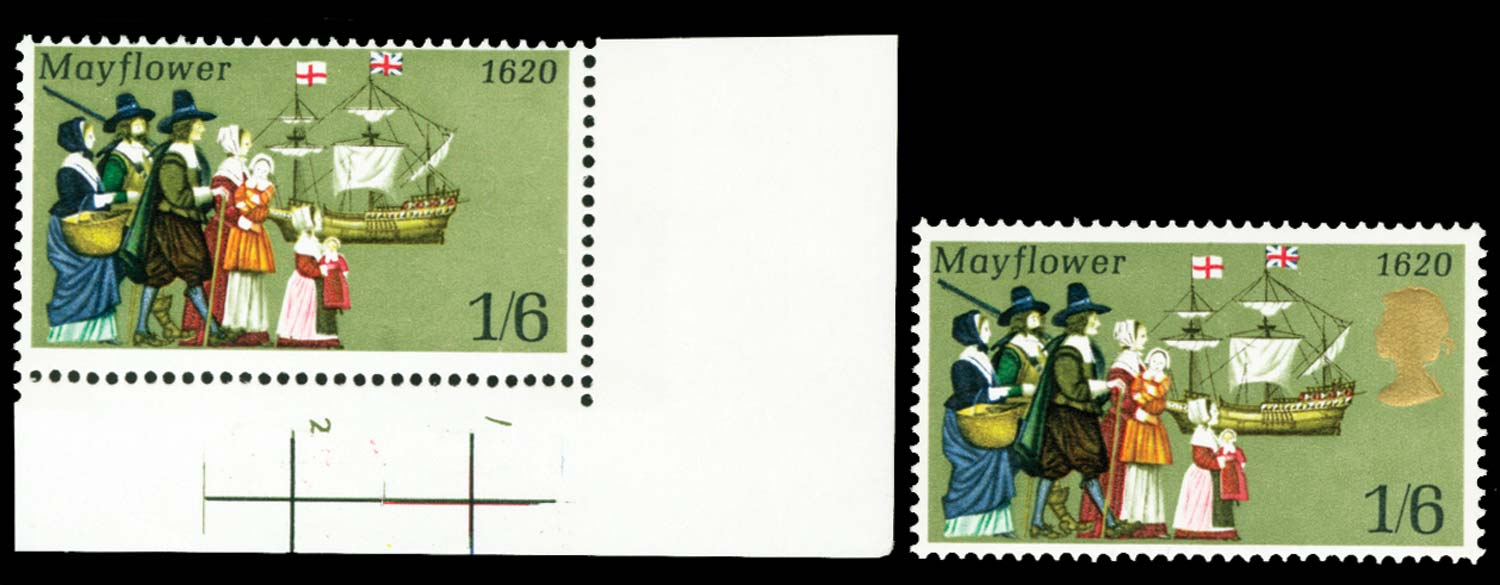 GB 1970  SG822a Mint gold omitted