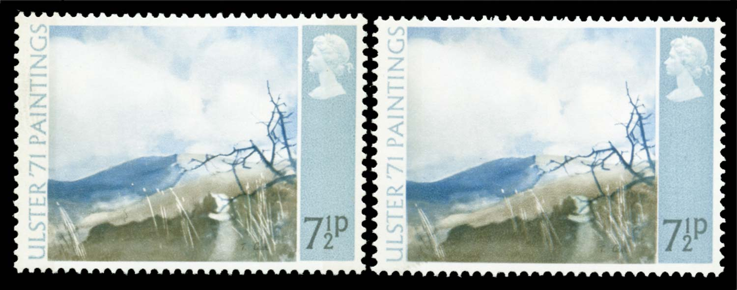 GB 1971  SG882a Mint pale olive-grey omitted