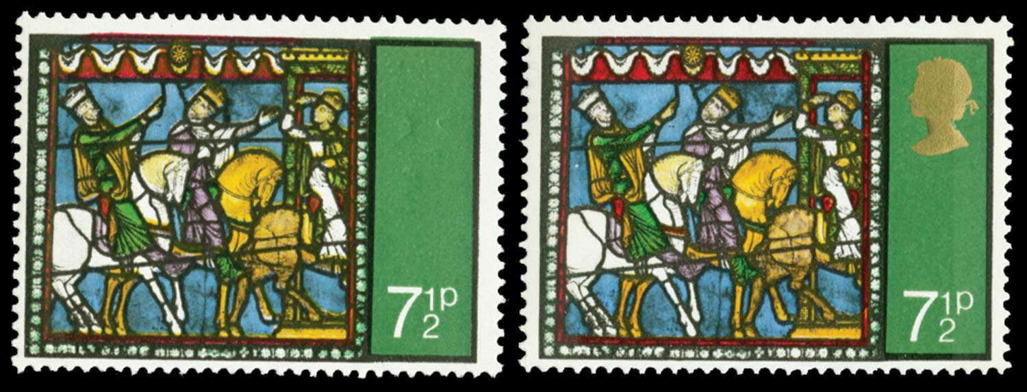 GB 1971  SG896a Mint gold omitted