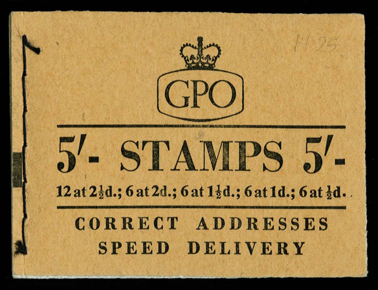 GB 1957  SGH25 Booklet