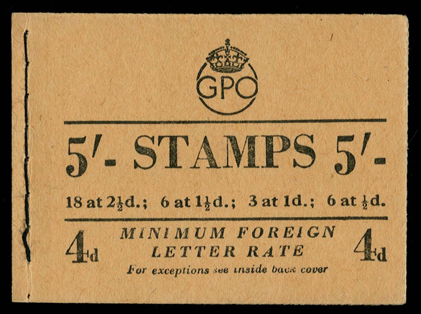 GB 1952  SGBD31 Booklet (Sep)