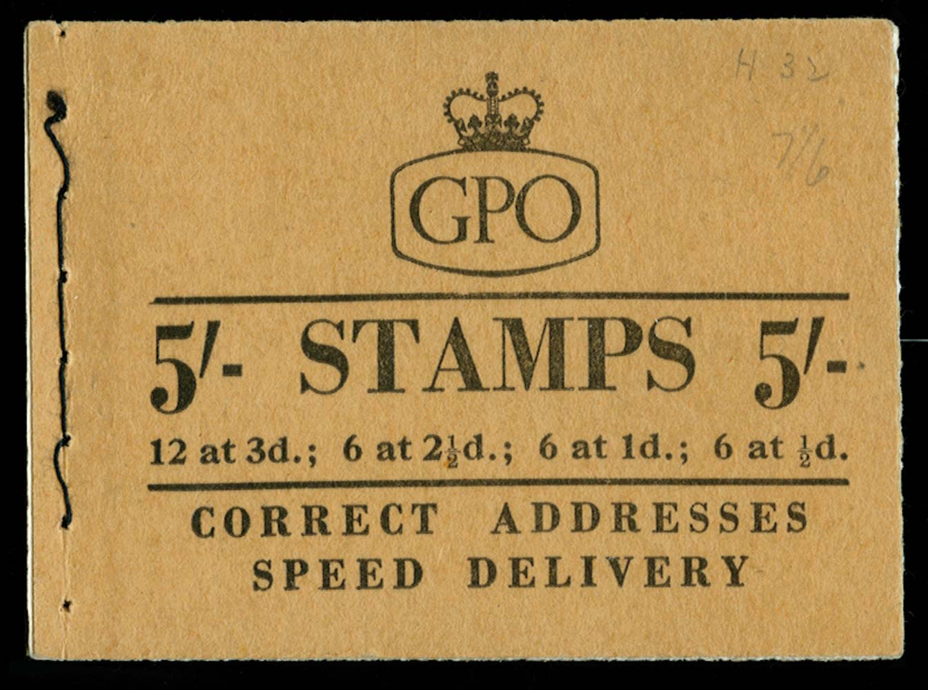 GB 1958  SGH32 Booklet