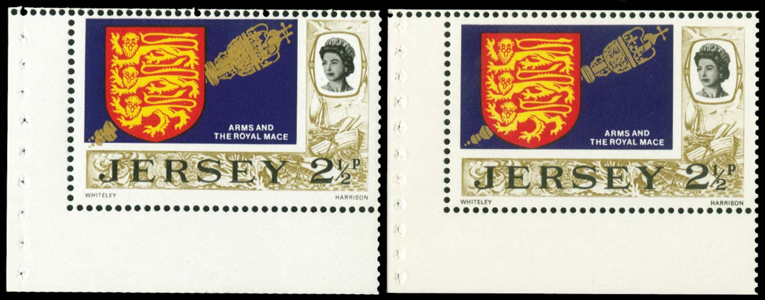 GB 1971  SG46ac Booklet pane gold printed double