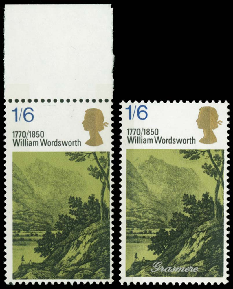 GB 1970  SG828b Mint silver omitted