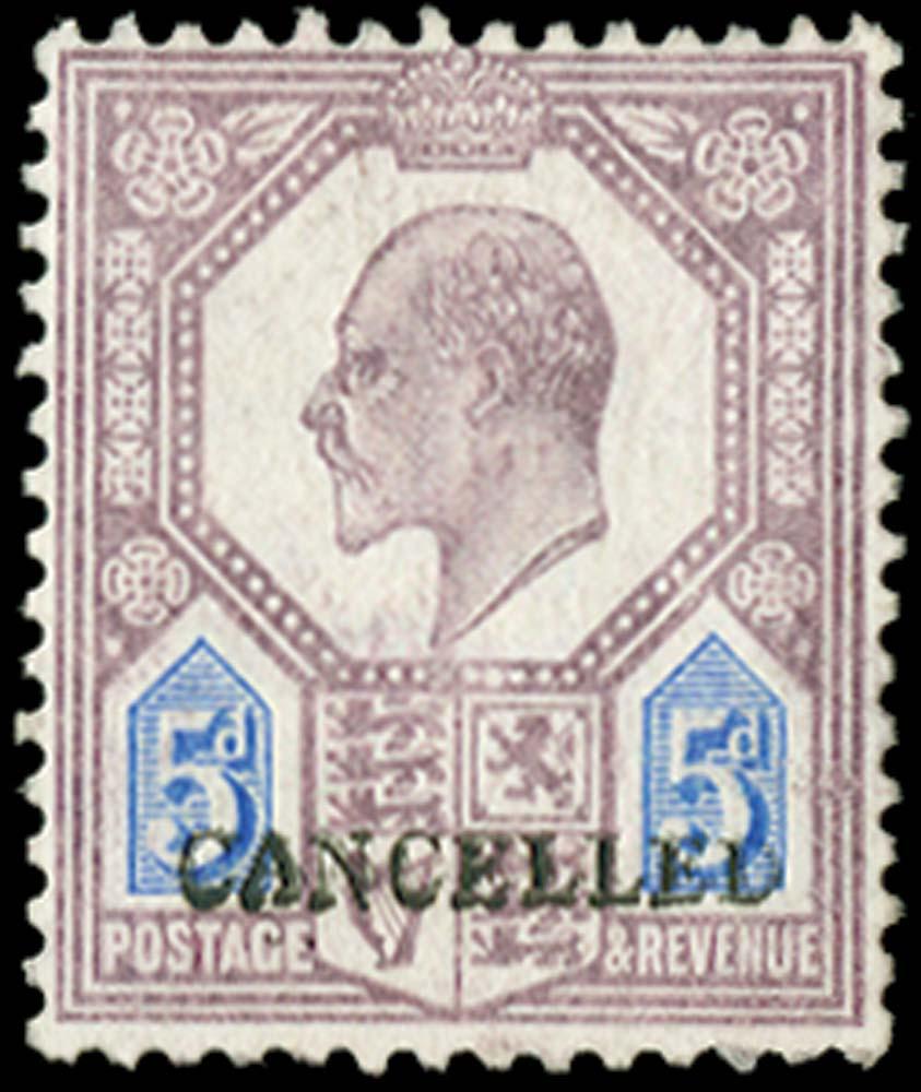 GB 1906  SG242a var Specimen