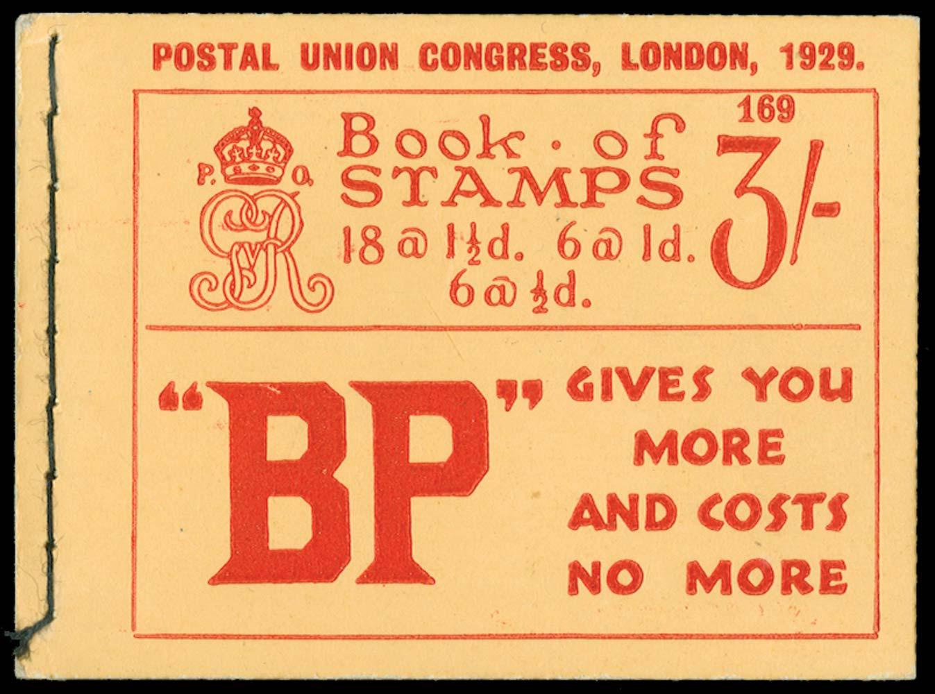 GB 1929  SGBB25 Booklet (Edition 169)