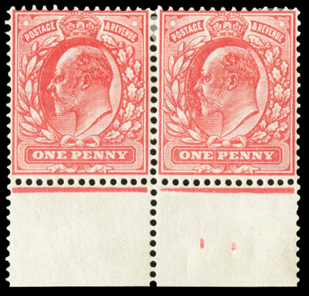 GB 1902  SG219var Mint