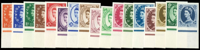 GB 1952  SG515/31var Mint set of seventeen Imprimaturs