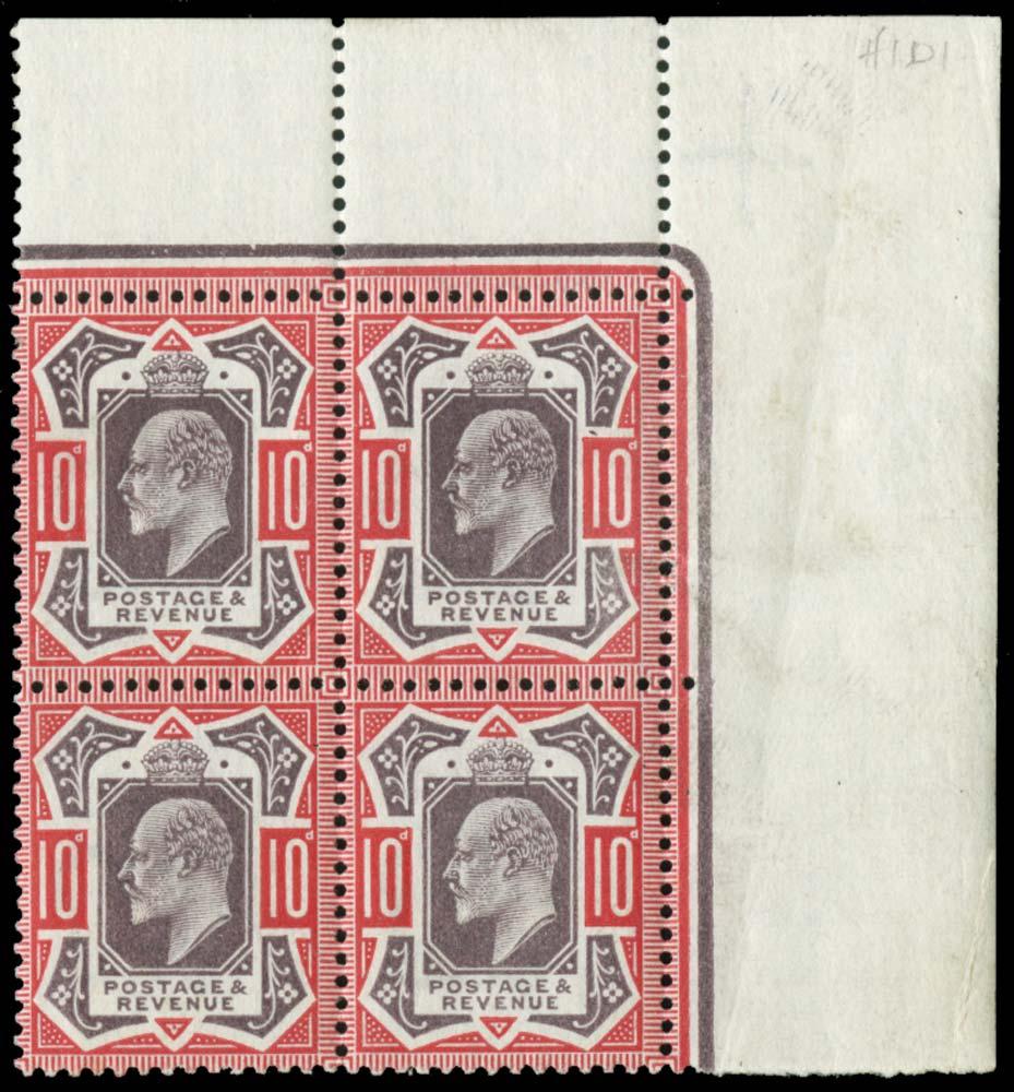 GB 1911  SG254 Mint