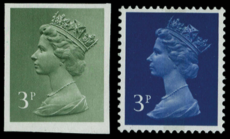 GB 1973  SGX855var Colour Trial for the Jumelle press
