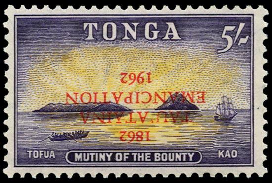 TONGA 1962  SG127a Mint