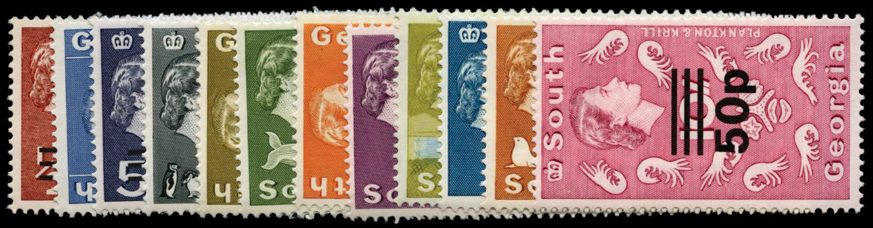 FALKLAND ISLAND DEPS 1977-78  SG53/66 Mint