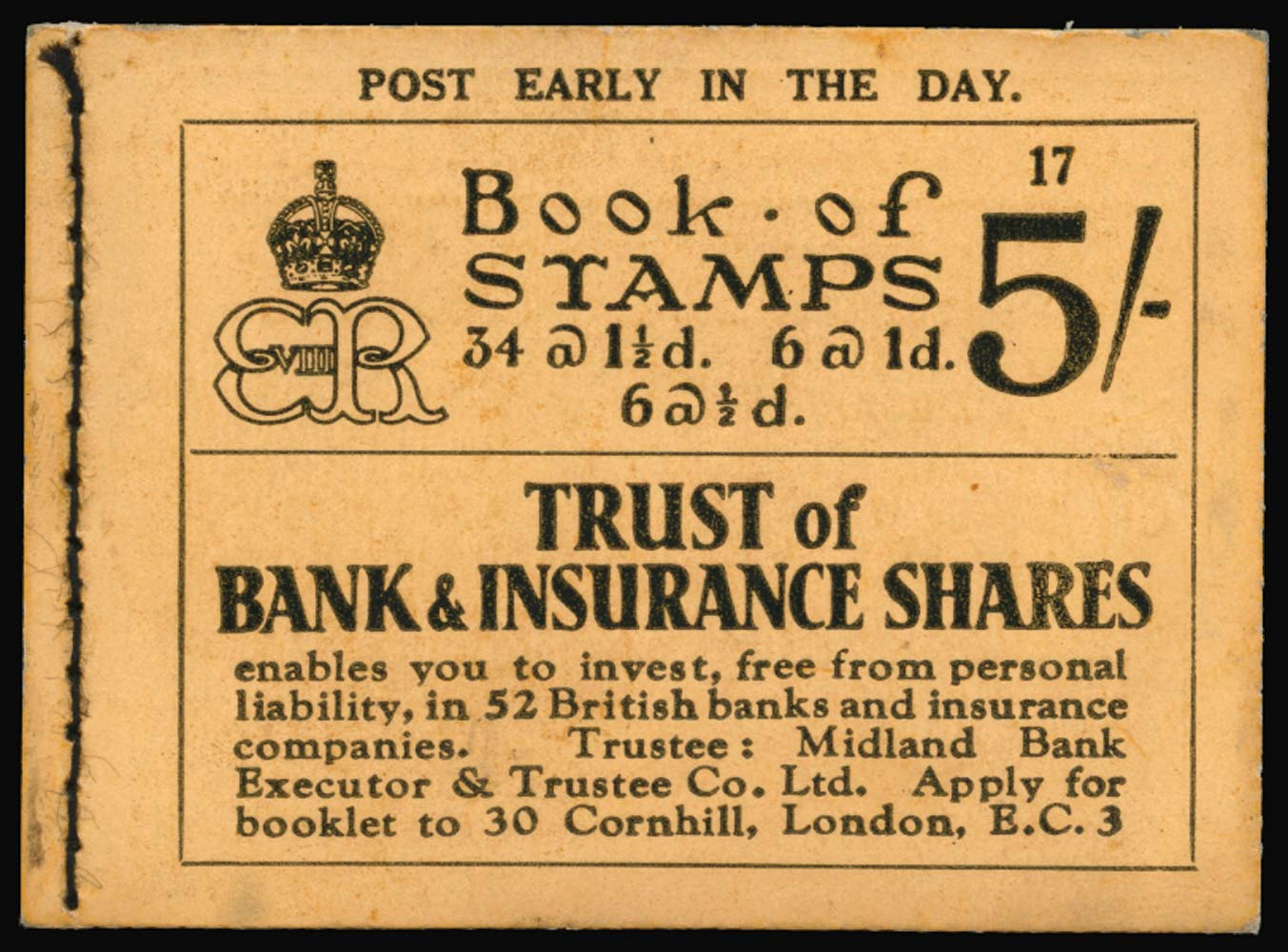 GB 1937  SGBC4 Booklet (Edition 17)