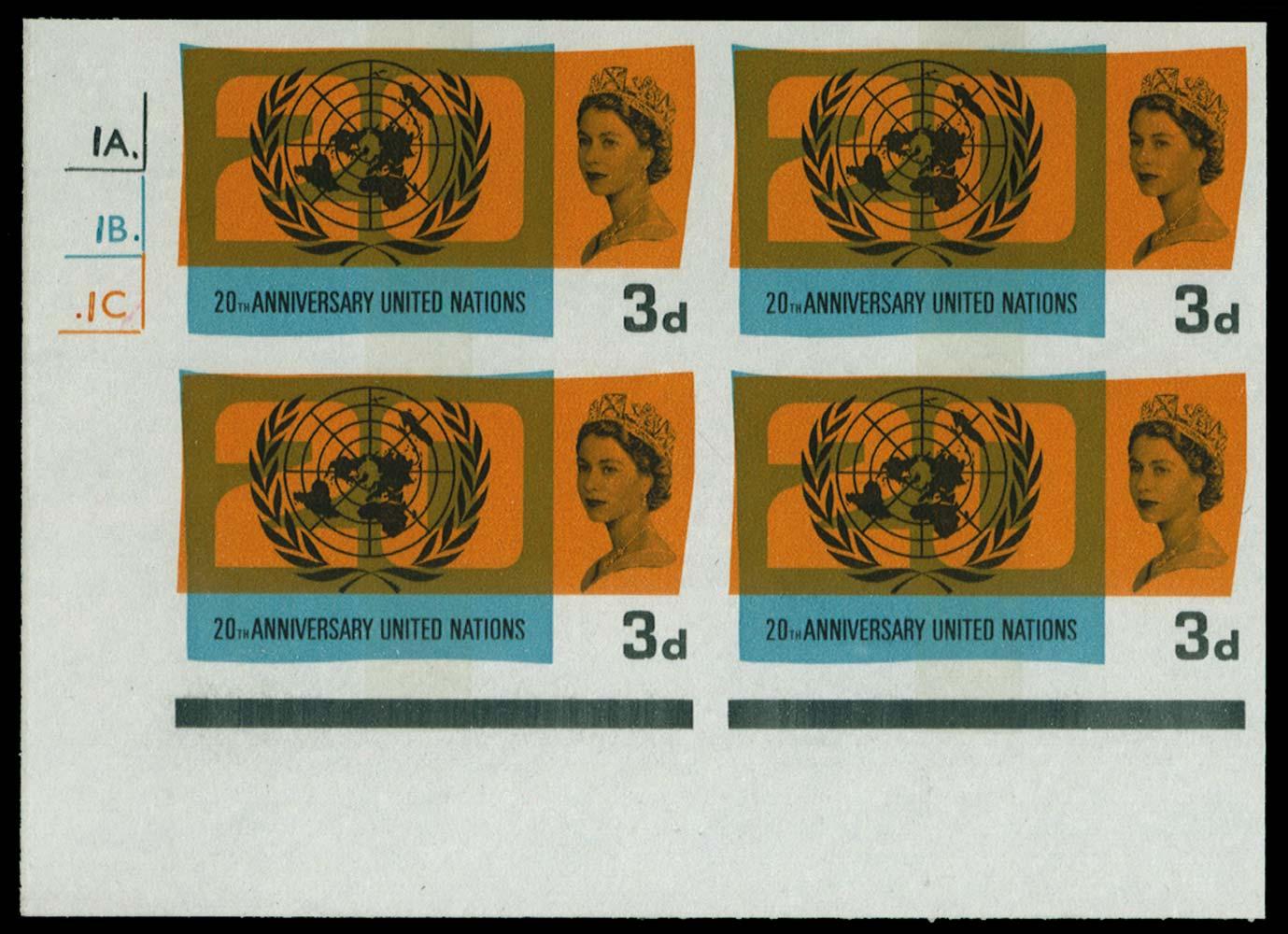 GB 1965  SG681pvar Mint Imprimaturs.