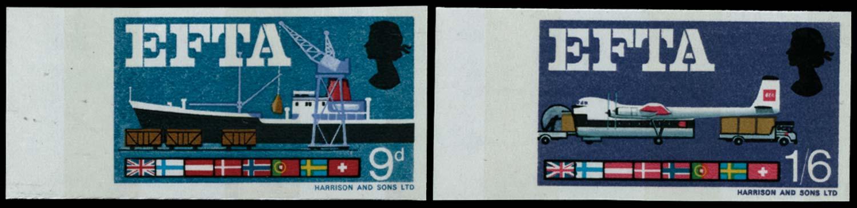 GB 1967  SG715/6pvar Mint