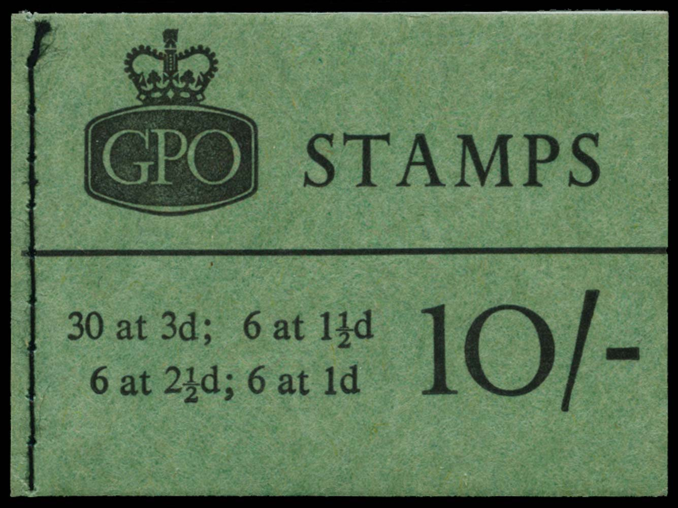 GB 1962  SGX4 Booklet