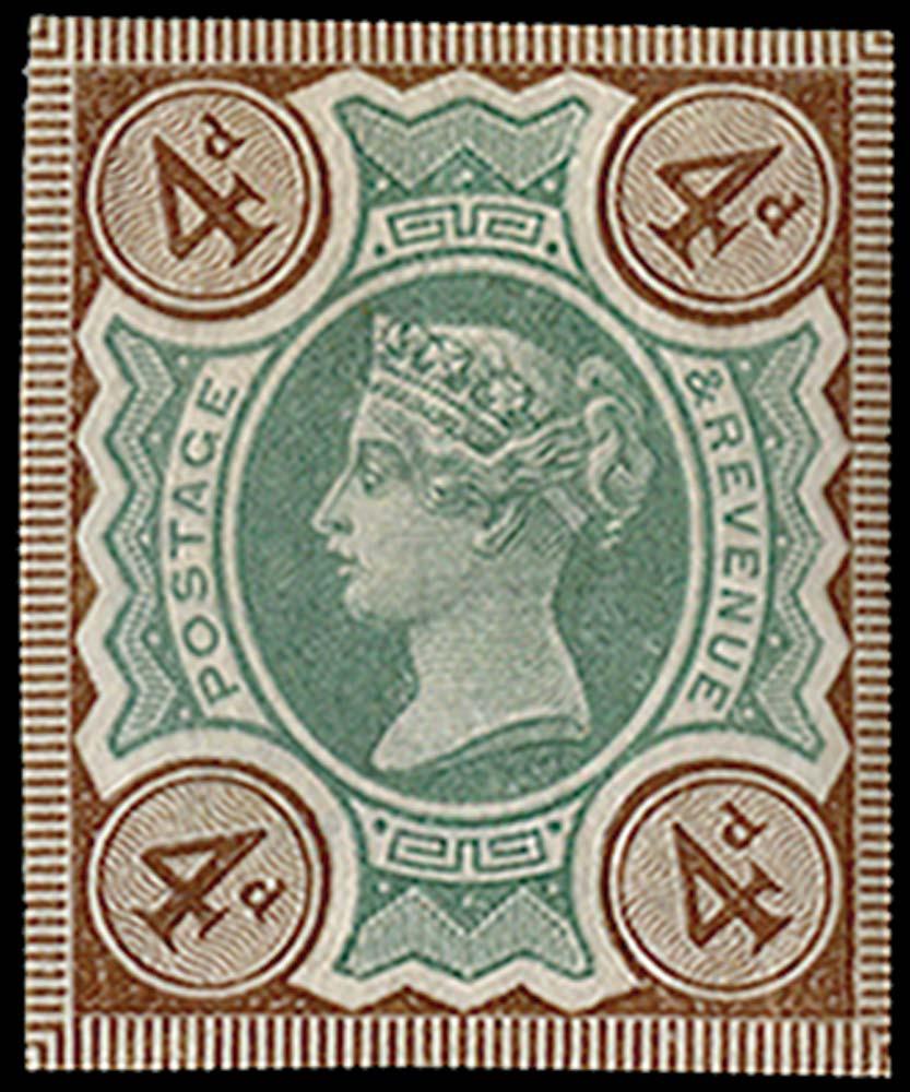 GB 1887  SG205var Mint
