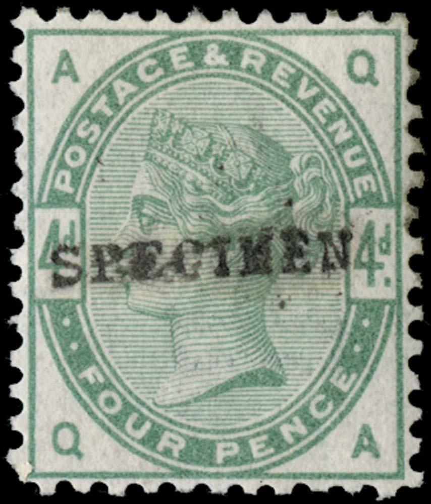 GB 1884  SG192var Specimen