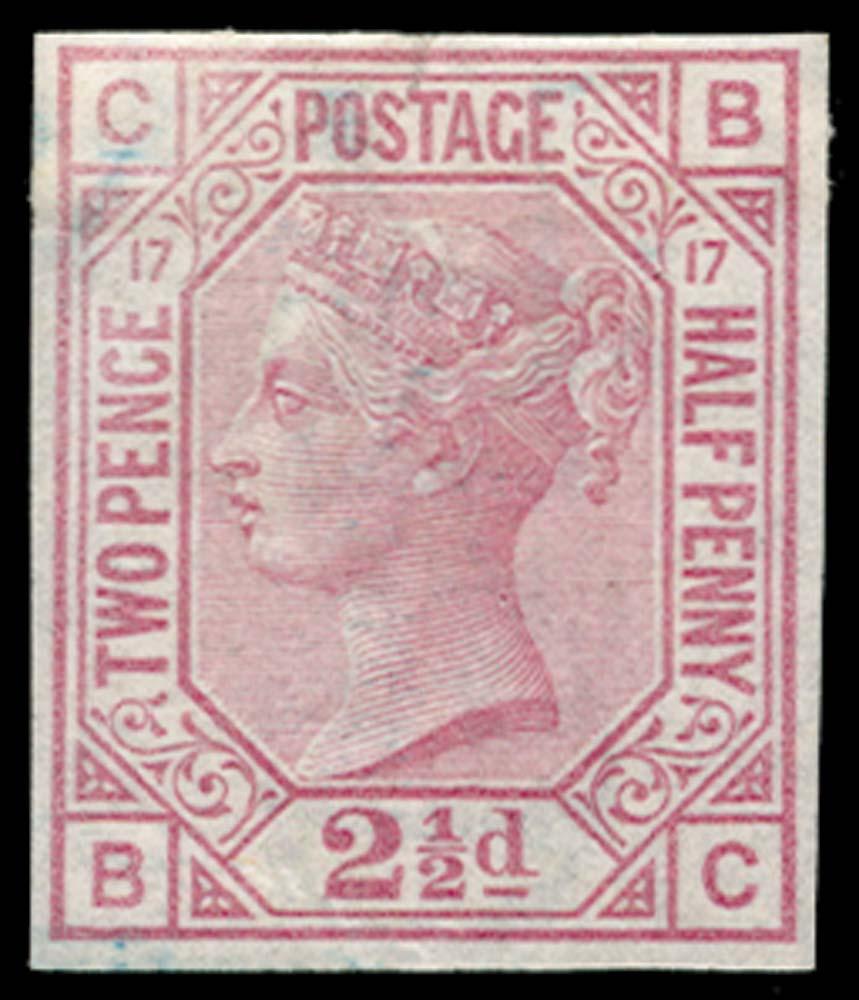 GB 1875  SG141var Pl.17 Mint