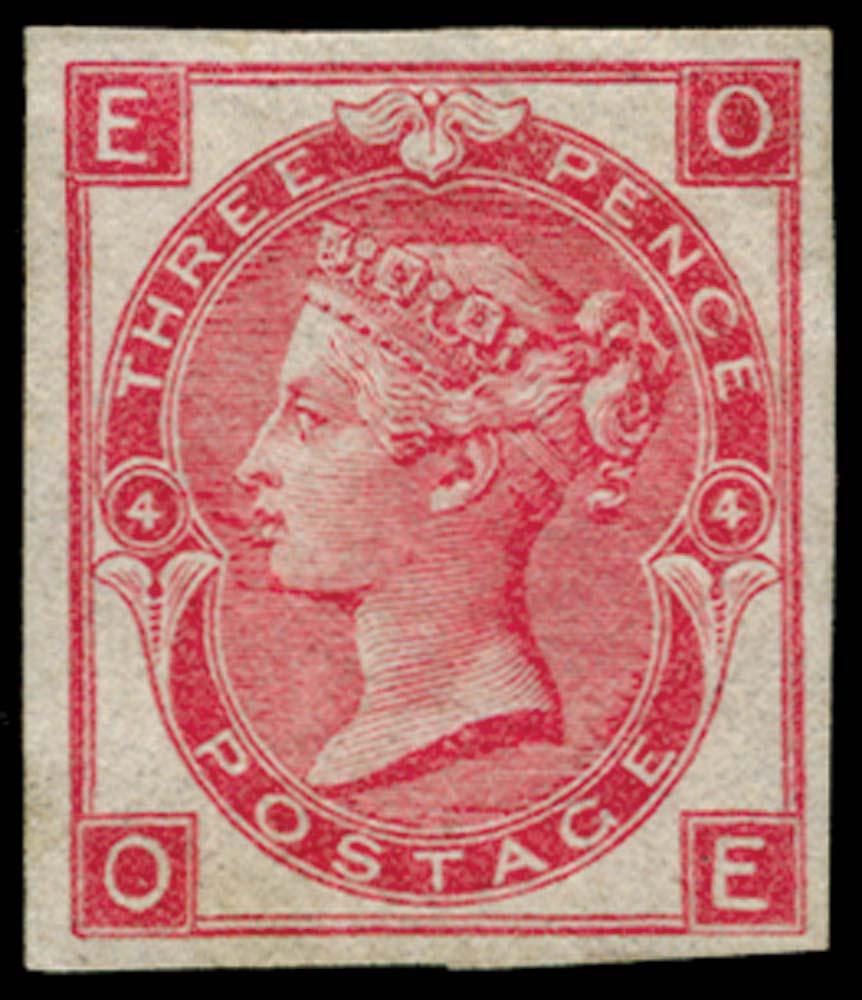 GB 1865  SG92var Pl.4 Mint