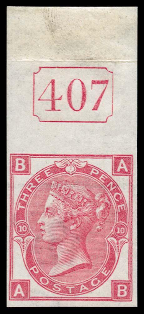 GB 1873  SG103var Pl.10 Mint