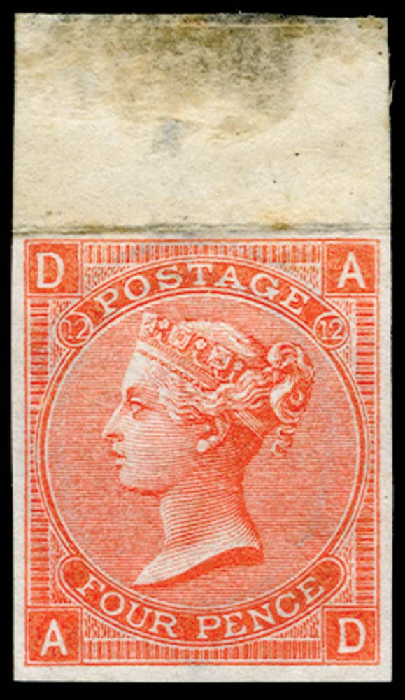 GB 1865  SG94var Pl.12 Mint