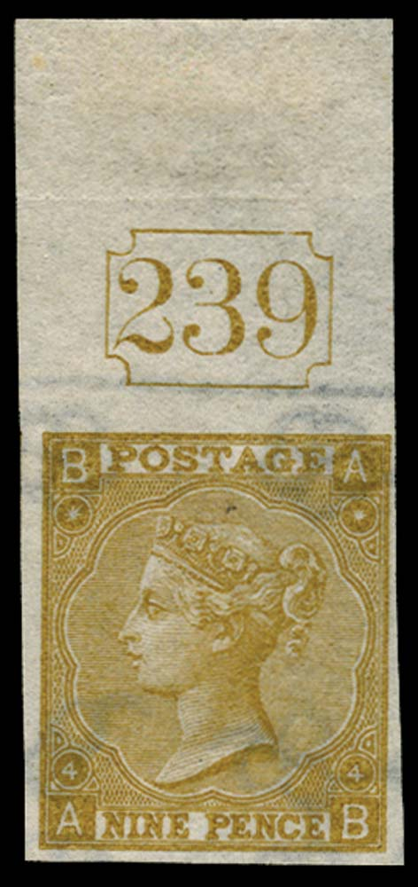 GB 1865  SG98var Pl.4 Mint