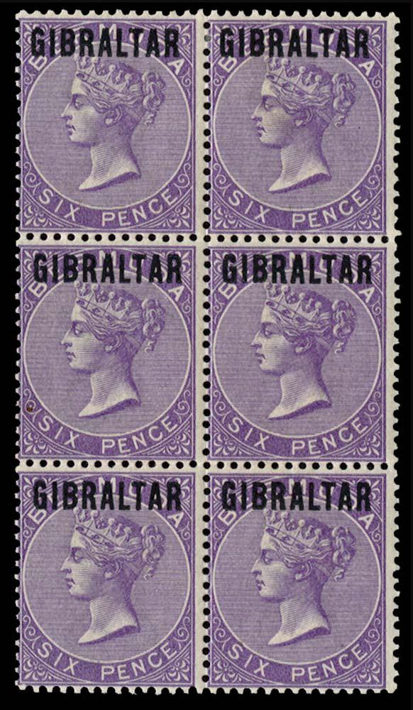 GIBRALTAR 1886  SG8/14 Essay