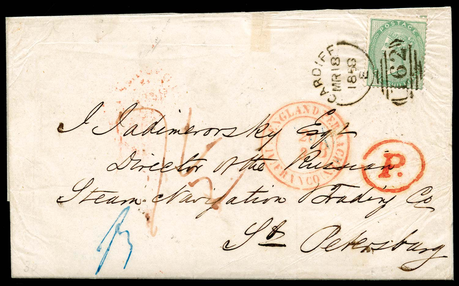 GB 1858  SG73 Pl.1 Cover