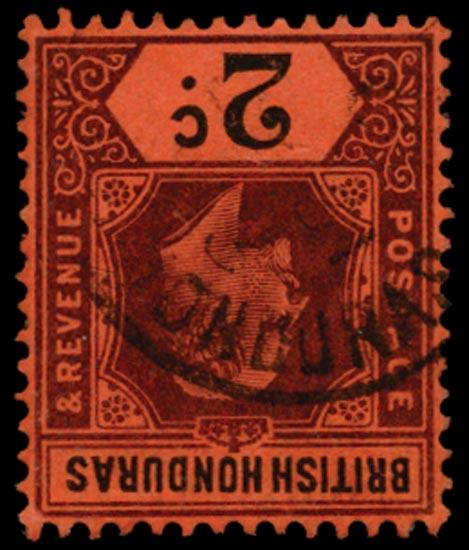 BRITISH HONDURAS 1902  SG81w Used