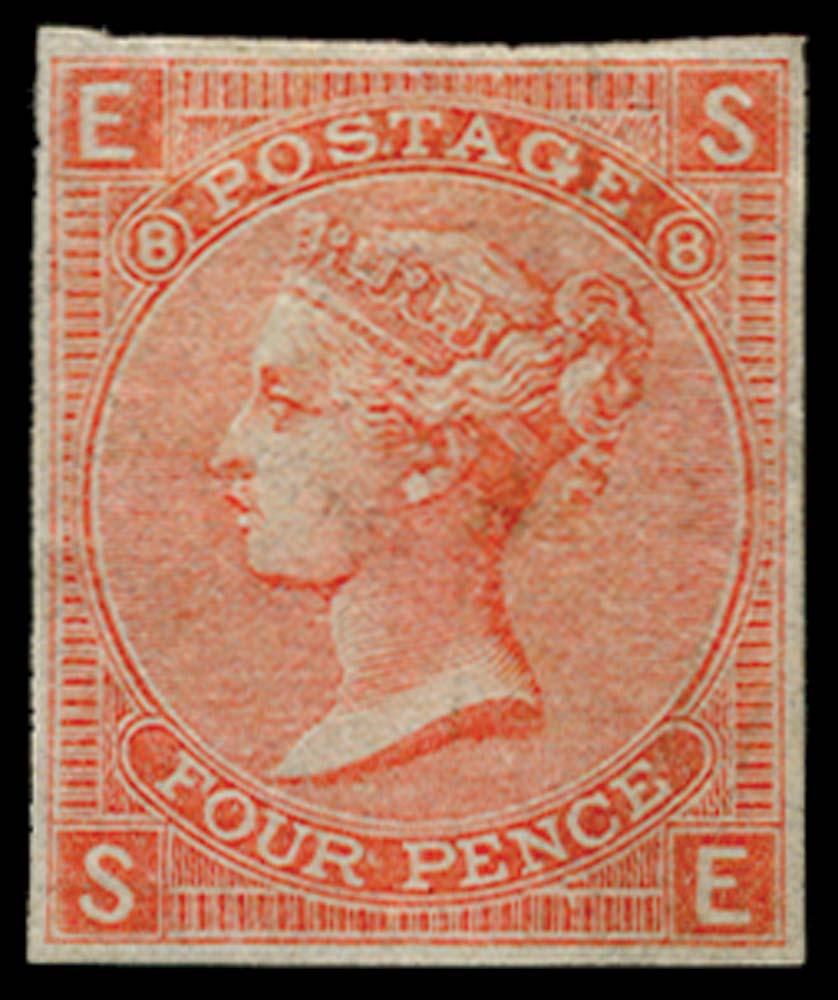 GB 1865  SG93var Pl.8 Proof
