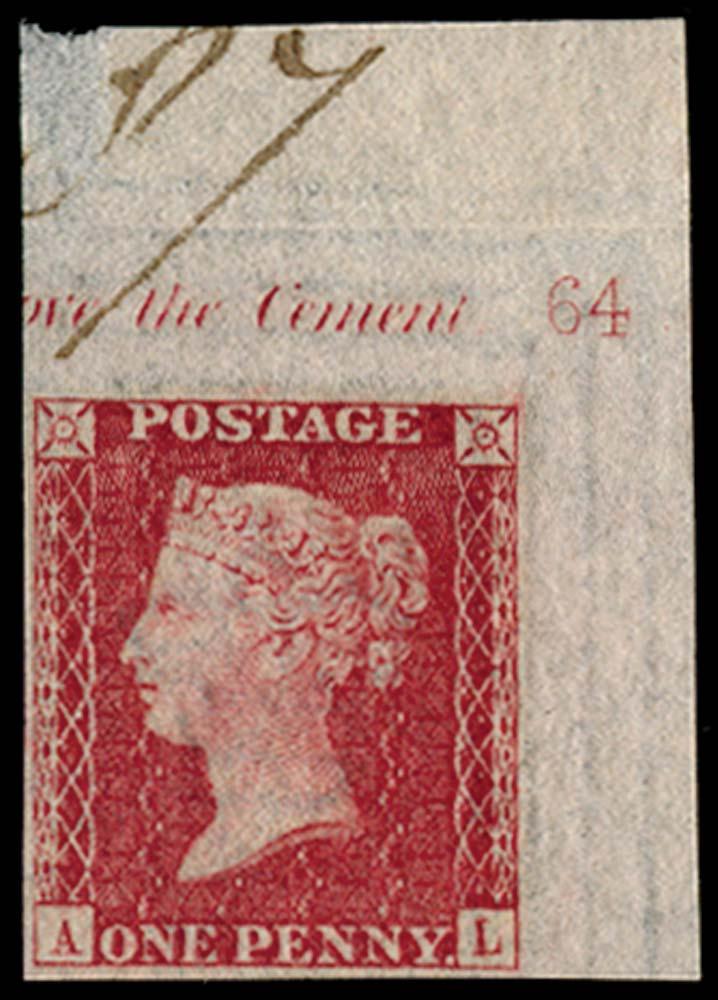 GB 1857  SG40var Pl.64 Mint